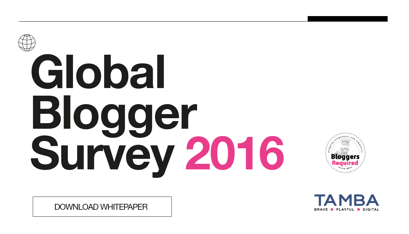Global Blogger Survey 2016